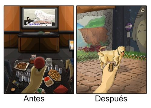 La vida antes y después de tener un perro